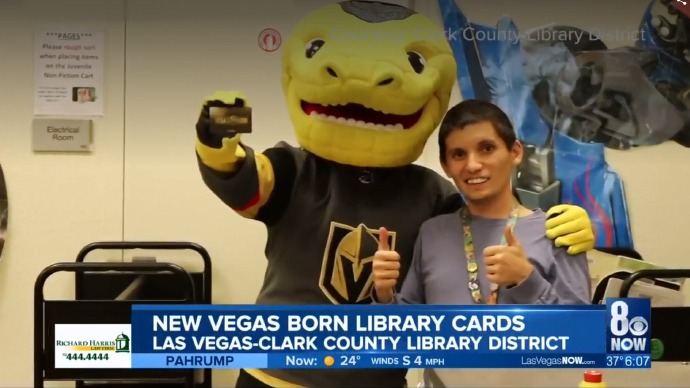 Vegas Golden Knights push literacy with new library card