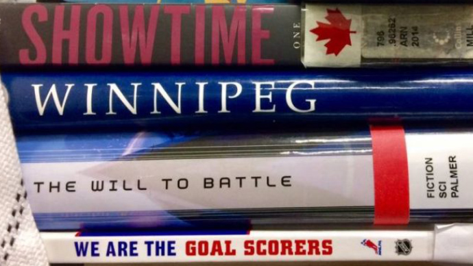 Librarians drop the gloves in bookish battles during Winnipeg Jets playoff run