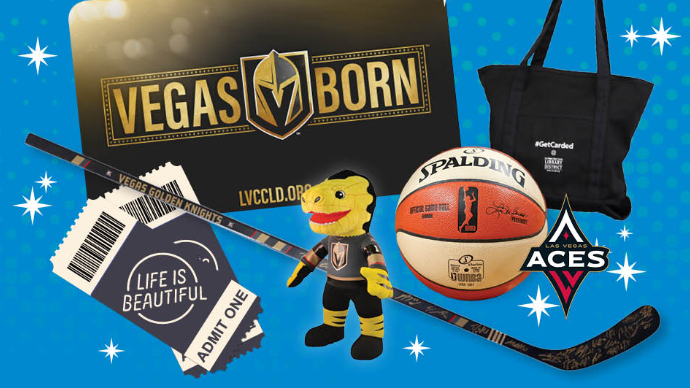 Get a library card for a chance to win a Golden Knights-signed hockey stick