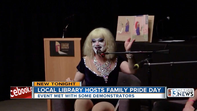 Local library hosts Family Pride Day amid some outside opposition