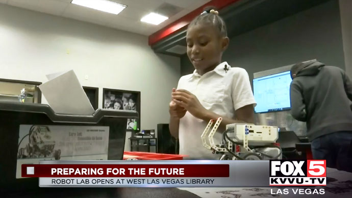 West Las Vegas Library debuts free robotics lab for kids