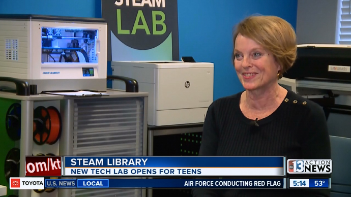 Las Vegas Clark County Library District Opens New COX Teen STEAM Lab