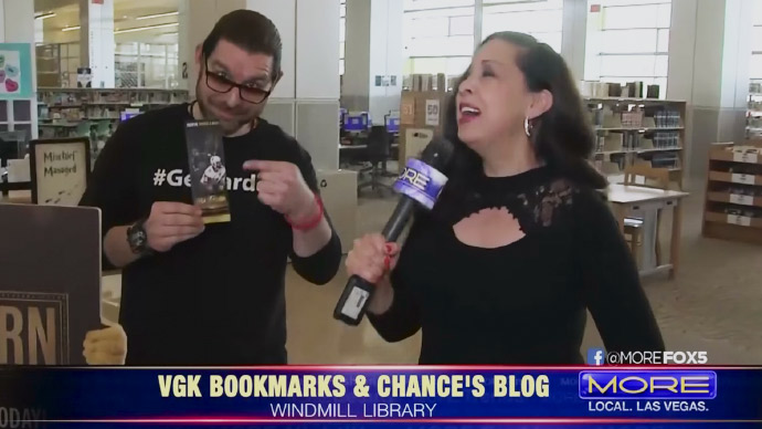 Check Out Collectible VGK Bookmarks & Chance's Blog from the Las Vegas-Clark County Library District